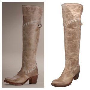 Frye Beige Tall Jane Boots.